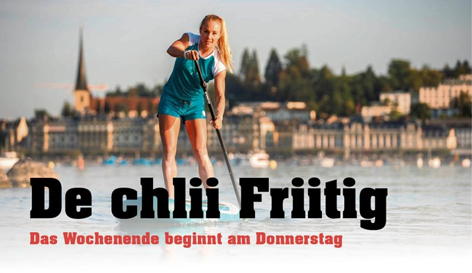 Stand-Up-Paddling mit Ariella Käslin in Nottwil.  (Foto zvg)